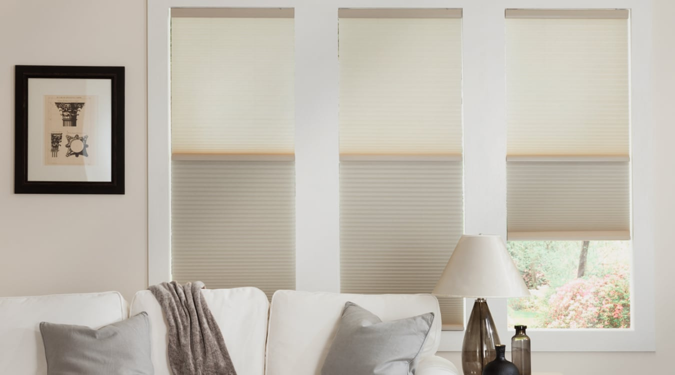 Cellular shades in a Las Vegas living room