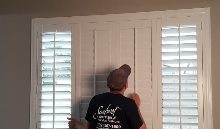Installation of plantation shutters in Las Vegas