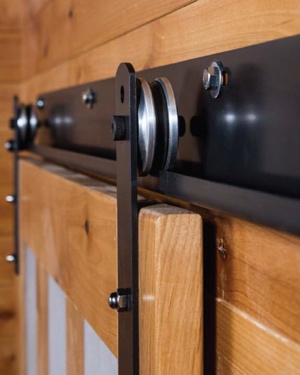 J track for sliding barn door shutters