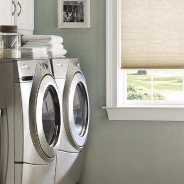 Las Vegas laundry room cellular shades.