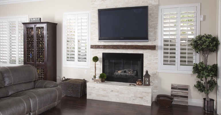 white shutters in Las Vegas living room