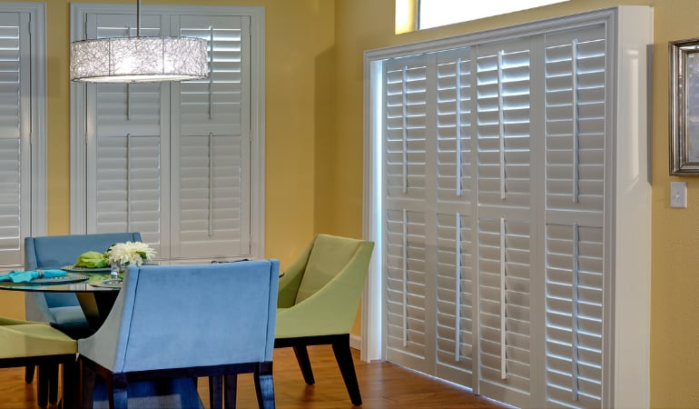 Patio Doors with Plantation Shutters in Las Vegas