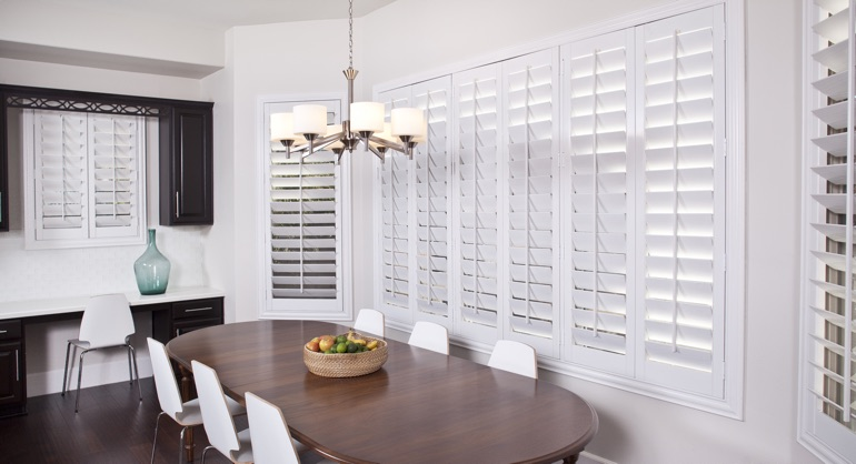 plantation shutters in Las Vegas kitchen