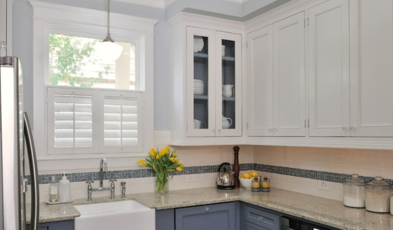 Polywood shutters in a Las Vegas kitchen.