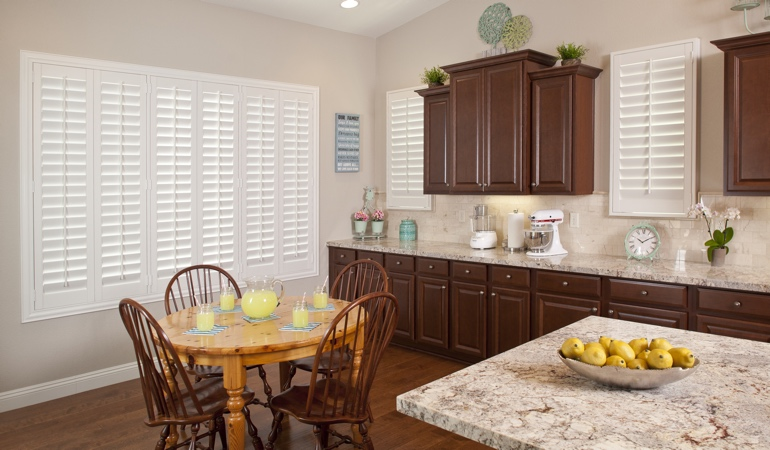 Polywood Shutters in Las Vegas kitchen