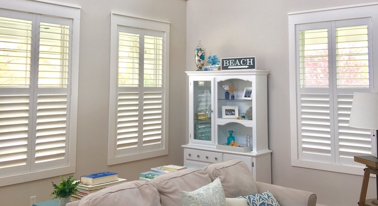white shutters in Las Vegas great room