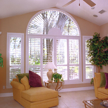 Half circle window shutter Las Vegas