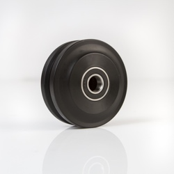 Black nylon wheel for barn doors