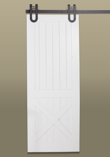 Rustic Half X Barn Door