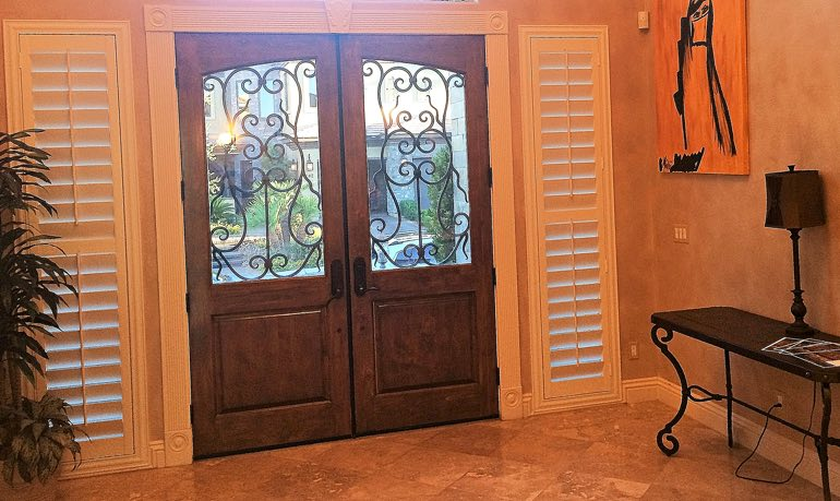 Las Vegas foyer door with shutters