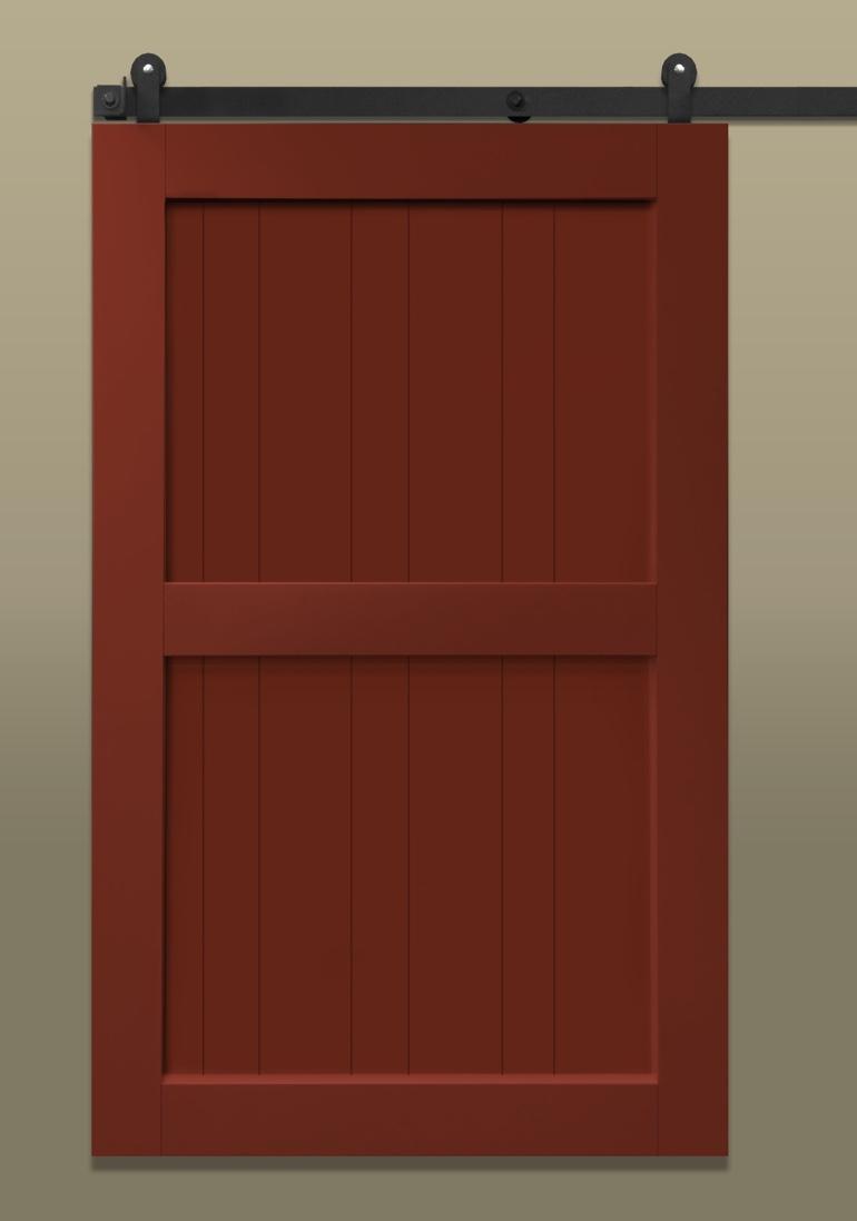 Red Sliding Barn Door sliding barn doors | sunburst shutters las vegas, nv