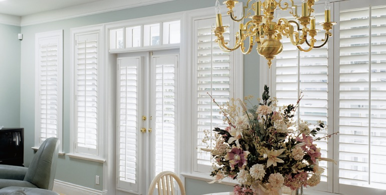 Las Vegas sunroom polywood shutters