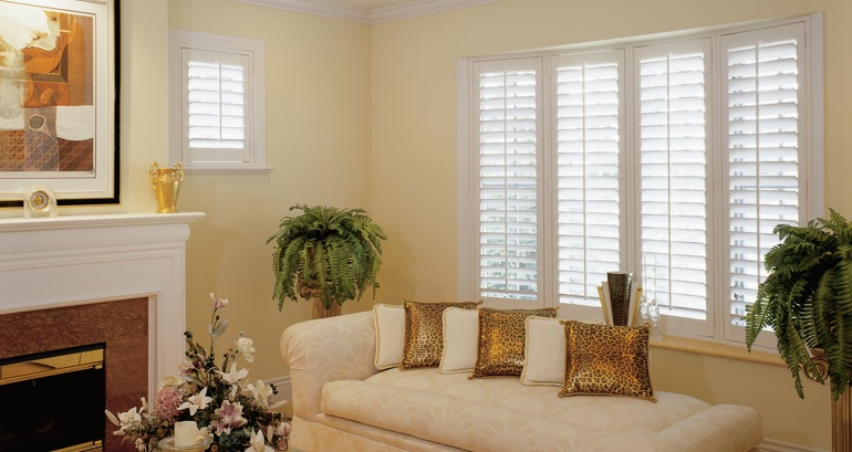 Las Vegas living room shutters
