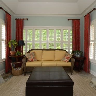 Las Vegas sunroom interior shutters.