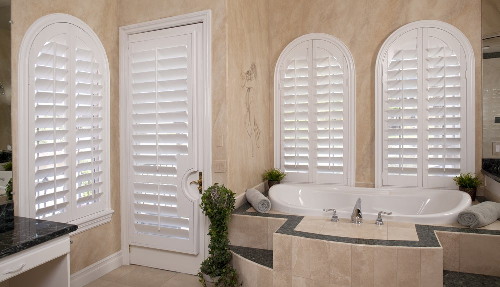 Arched Shutters In A Las Vegas Bathroom