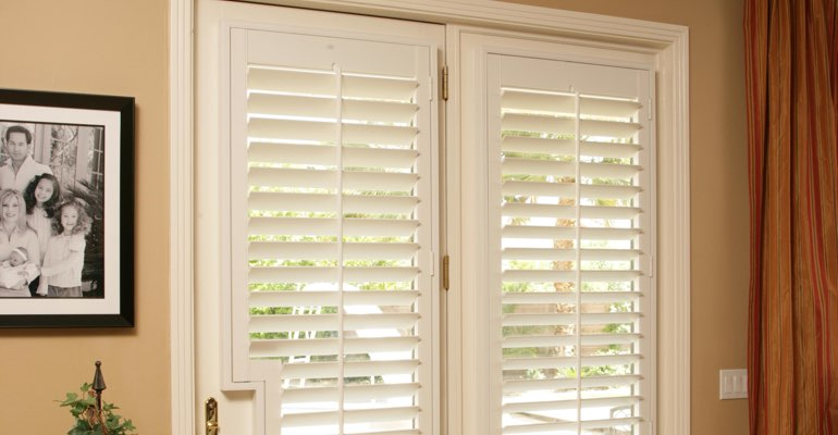 Las Vegas french door white shutters