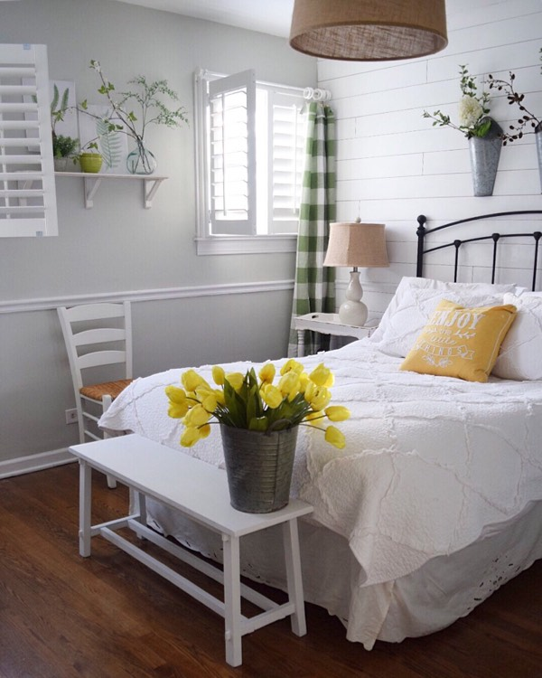 Las Vegas cottage bedroom shutters