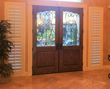 Las Vegas sidelight window treatment shutter