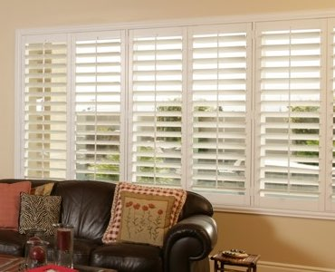 Las Vegas wide window shutter living room