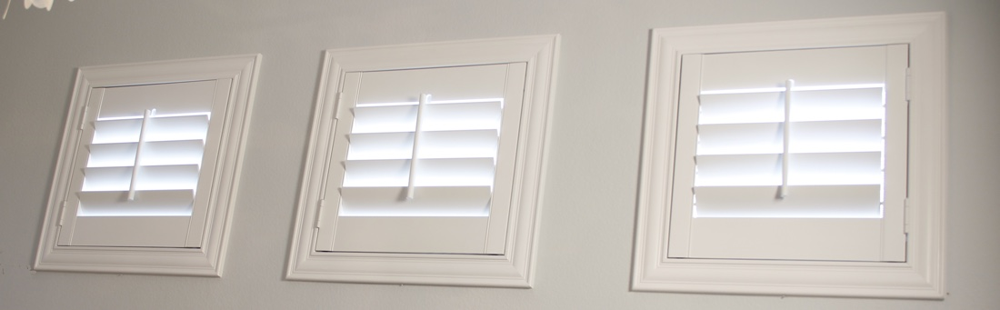 Las Vegas casement window shutter.